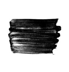 Black brush strokes isolated on white vector