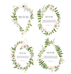 Botanical banners set with pink peony and vector