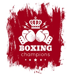 boxing blood vector image