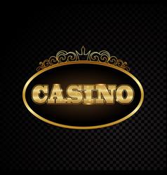 brightly casino glowing retro casino letters neon vector image