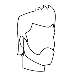 Businessman profile male portrait business line vector