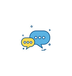 chat sms icon design vector image