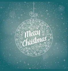 christmas greeting card in a christmas ball vector image