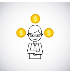 Coins money growth icon vector