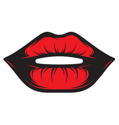 color with beautiful female lips vector image