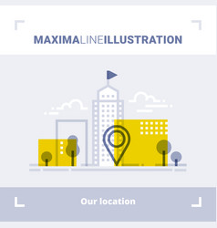 Concept company location and office address vector