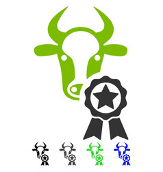 Cow award flat icon vector