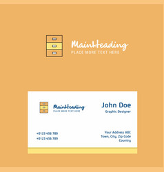 cupboard logo design with business card template vector image