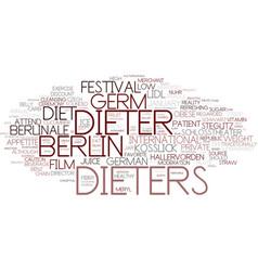 Dieters word cloud concept vector