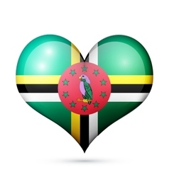 Dominica Heart flag icon vector image