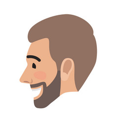 Emotion avatar man happy successful face vector