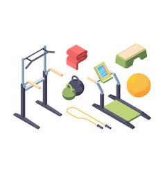fitness exercise equipment isometric set swedish vector image