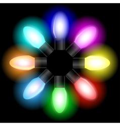 Garland bulbs set vector