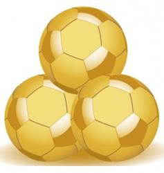 Golden balls vector