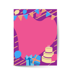 greeting and birthday invitation card layout vector image