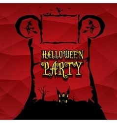 halloween dark background vector image