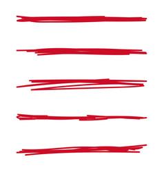 hand drawn underline vector image