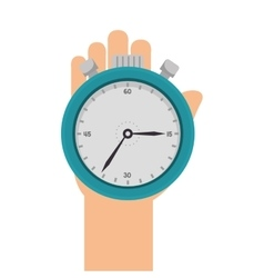 Hand holding a chronometer vector