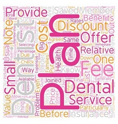 How And Why Discount Dental Plans Work text vector