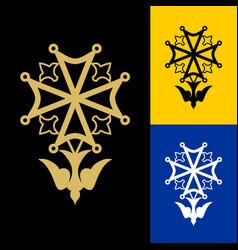 Huguenot cross is a christian religious symbol vector