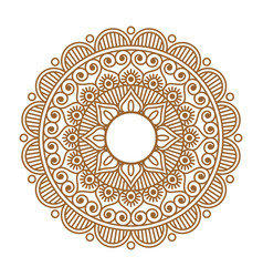 Indian henna mehendi ornament vector