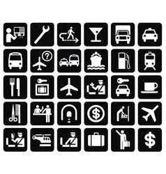 international direction signs set vector image