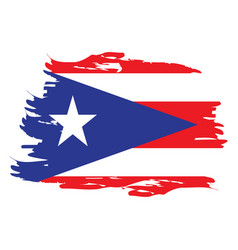 Isolated flag of puerto rico vector