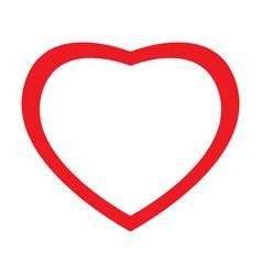 isolated heart shape vector image