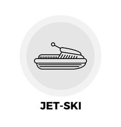 Jet-Ski Line Icon vector image