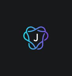 letter j logo monogram minimal style identity vector image