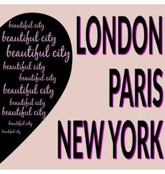 London Paris NY T-shirt 2 vector