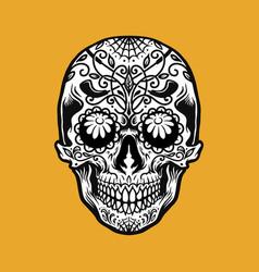 mexican dia de los muertos tattoo golf element vector image