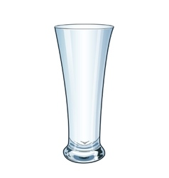 Modern empty drinking glass vector image