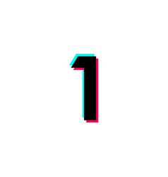 Number 1 black template design design vector