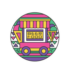 Original logo trailer with food and beer vector