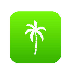 palm tree icon digital green vector image