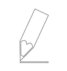 pencil tip icon synbol design vector image