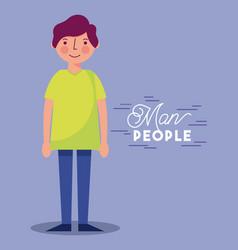 people woman man character vector image