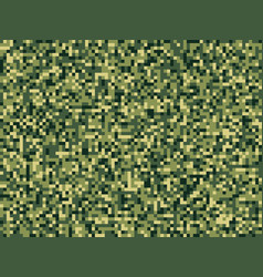pixel camuflage green forest seamless pattern vector image