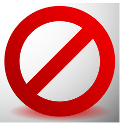 Red prohibition restriction sign - rejection vector