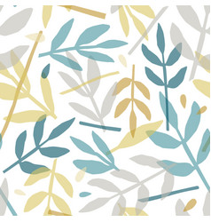 rowan leaves hand drawn seamless pattern vector image