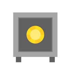 Safe box police related icon vector