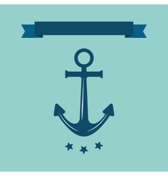 Sea anchor logo vector image