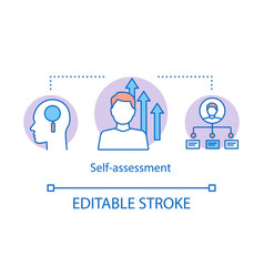 Self-assessment concept icon vector