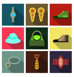 set with icons on theme of shopping and clothes vector image