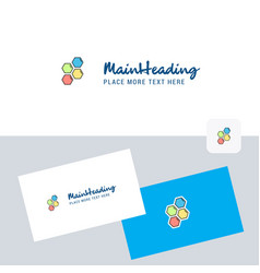 shells logotype with business card template vector image