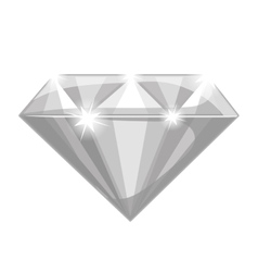 Shiny diamond icon vector