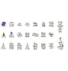 slogans for the new year christmas posters for an vector image