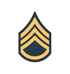 Staff sergeant ssg soldier military rank insignia vector