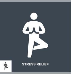 Stress relief glyph icon vector